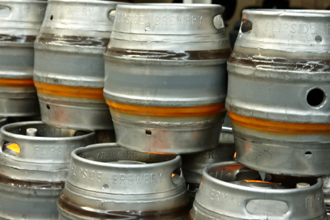 Flipside Brewery casks awaiting filling NA270021