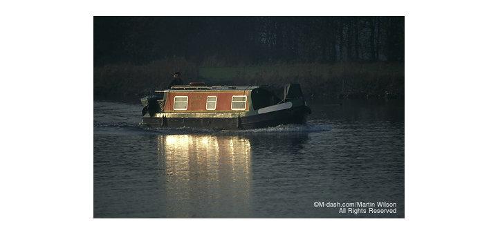 Narrow boat, River Trent, Nottingham