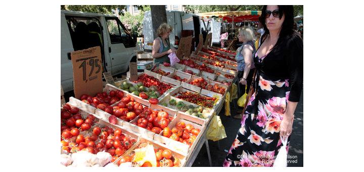 Arles market, France