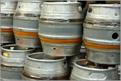 Flipside Brewery, casks awaiting filling
