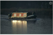 Narrow boat, River Trent, Nottingham