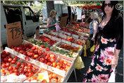 Food stall, Arles Market, France