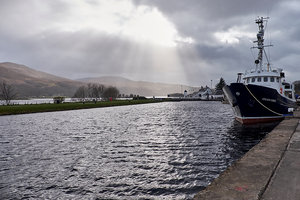 Start of the Caledonian Canal, Corpach - PD180126